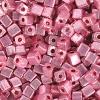 Square Beads 3.4x3.4mm Metallic Pink
